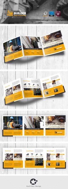 Construction Tri-Fold Square Brochure Templates #design #trifold Download: http://graphicriver.net/item/construction-trifold-square-brochure-templates/11442304?ref=ksioks
