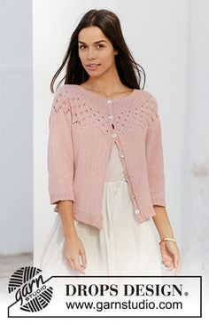 Did you know there are over 200 DROPS catalogues filled with thousands of free knitting patterns and crochet patterns for the whole family? Knitting Designs, Knitting Patterns Free, Knit Patterns, Free Knitting, Cardigan Pattern, Jacket Pattern, Knit Cardigan, Drops Design, Rose Jacket