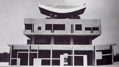ARQUITECTURA TRAS IIGM - EUROPA - LE CORBUSIER - Casa del gobernador, ciudad de Chandigarh, India