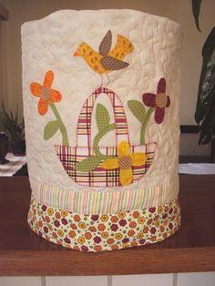 Capa para decorar galão de água de patchwork 004
