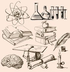 Science Chemistry Education Vector Sketches