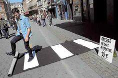 guerilla crosswalk!