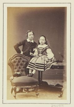 AC Prince Arthur and Princess Beatrice, 1864 [in Portraits of Royal Children Vol.7…
