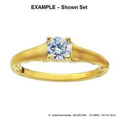 CC-30620     14K Yellow Gold .50-Ct Round by CedarCreekCanada