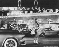 """""""Johnnie's Broiler,"""" Drive-In and Coffee Shop. Downey ca"""