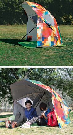 Pixel umbrella tent Repinned by Suzanna Kaye Orlando, Florida Home Organizer. More tips and products at: www.aspacethatworks.com