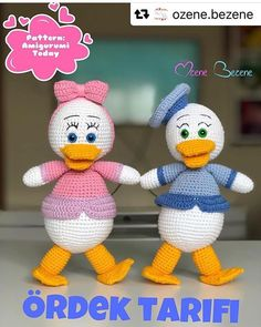 Amigurumi Crochet Pato Duck Free Pattern - Amigurumi Free Patterns and Amigurumi Tutorials Amigurumi Free, Amigurumi Tutorial, Amigurumi Toys, Amigurumi For Beginners, Crochet Disney, Pet Mice, Crochet Toys, How To Introduce Yourself, Hand Knitting