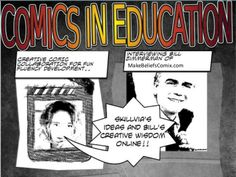 Comics in education by Sylvia's English Online via slideshare Visual Literacy, English Online, Teaching English, Storytelling, Wisdom, Education, Comics, Articles, Comic Book