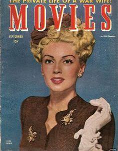 """Lana Turner ~ """"Movies"""" magazine, 9 -1944..."""