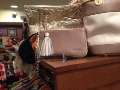 Spartina 449 leather chain wristlet with tassel.. I need this! (Photo taken at the women's gift shop at the Biltmore hotel)