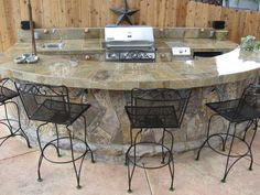 Bar and grill outside | ... Ideas & Garden Ideas > Outdoor Kitchens: Cooking Up Some Ideas
