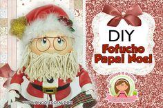 Moldes y paso a paso fofucho Santa Claus!