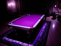 Cool Purple Pool Table! Purple Love, All Things Purple, Shades Of Purple, Deep Purple, Pink Purple, Purple Stuff, Purple Hues, Lilac, Blue