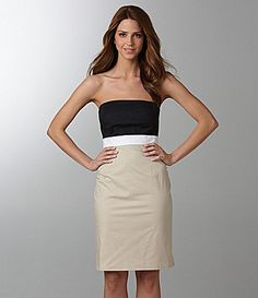 DKNYC Strapless dress. Perfect for a shower since its my wedding colors!!!