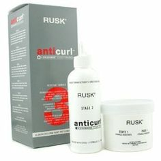 Rusk Radical Anti Curl 3- Resistant Formula (kit) by Rusk. $29.95. Most Popular Hair Relaxer sold. Chemical treatment. Curl adjuster. Frizz controller. Anti-humectant. For clients with old or unwanted perms, or clients with naturally curly or frizzy hair in need of control. Also for clients with uneven hair texture. Removes old or unwanted perms. Controls naturally curly hair. Controls hair that frizzes in high humidity. Prepares the hair for a fresh texture. Evens hai...