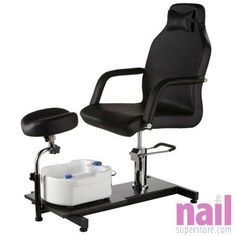 Rio Portable Pedicure Spa Chair | Conveniently Portable - Fits Anywhere - Black Cushion  sc 1 st  Pinterest & Pedicure Unit Station Hydraulic Chair Massage Foot Spa Beauty Salon ...