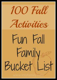 100 Fall Activities  Fun Fall Family Bucket List