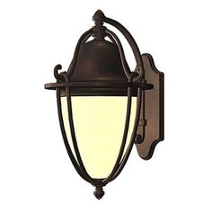 Perfect replacements for our house -- affordable too! allen + roth Portage 11.75-in H Bronze Outdoor Wall Light