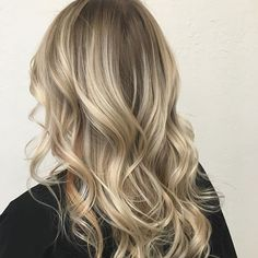 Blonde Balayage : Root Drag : Curls