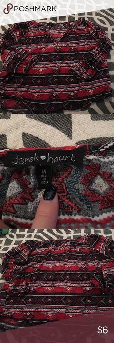 Derek heart size M Aztec shirt Derek heart size M Aztec shirt Derek Heart Tops