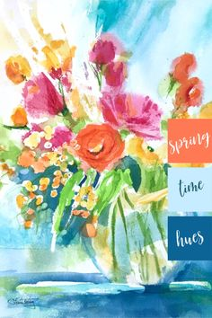 Watercolor Floral Paintings for sale. Interior Design and Home Decor Ideas. Shop colorful florals for your walls that you will love with free shipping.