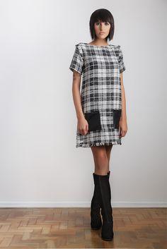 #gverri #gverristore #inverno2013 #vestido #dress #xadrez #bolso #couro  #preto #moda #fashion