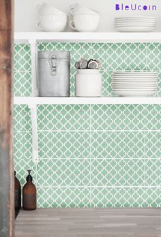 Tile decal Classic  Moroccan Tile Pattern by Bleucoin on Etsy, $68.49
