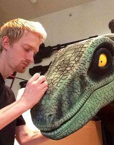 DIY Raptor suits built by fans bring dinosaurs back to life! Stan Winston School Student Spotlight with Courtney and Scotty Zod.