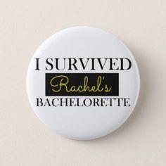 Bachelorette Custom Pin - wedding ideas diy marriage customize personalize couple idea individuel