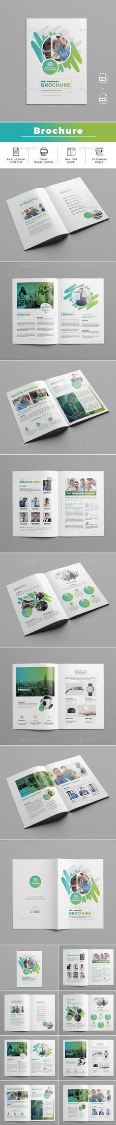 Brochure Template InDesign INDD - A4 & US Letter Size - 16 Custom Pages