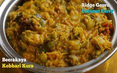 Turai Subzi| బీరకాయ కొబ్బరి కూర| కమ్మటి బీరకాయ కొబ్బరి కూర| చపాతీ, రోటీ, అన్నం లోకి చాలా బాగుంటుంది Gujarati Recipes, Gujarati Food, Coconut Curry, Healthy Recipes, Curries, Lord Shiva, Ethnic Recipes, Curry, Healthy Eating Recipes