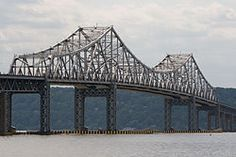 Bridge Types - Cantilever (Tappan Zee Bridge, Hudson River, New York) Hudson River, Hudson Valley, Tappan Zee Bridge, Cantilever Bridge, Bridge Design, Westchester County, Parka, Around The Worlds, Rockland County