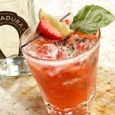 Strawberry Basil Margarita: A twist on the classic margarita. Use fresh strawberries & basil to make this spring!