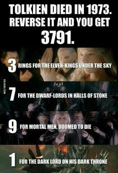 The year Tolkien died.