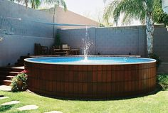 Above Ground Pools That Look Like In Ground - Round Designs