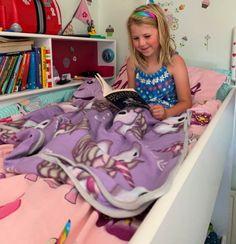 Happy Bedrooms for Kids! Mermaid Bedding, Unicorn Pillow, Unicorns And Mermaids, Kid Beds, Sleepover, Getting Old, Neutral Colors, Parenting Hacks, Kids Bedroom