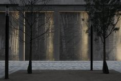 Image 1 of 4 from gallery of London's Silver Forest Redefines the Concrete Jungle. The textured surface of the frieze changes according to ambient light, creating a perplexing effect in the image from day to night. Image Courtesy of Lynch Architects