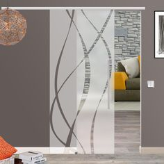 glasschiebetür satin 900x2050mm glas schiebetür glastür satiniert, Hause und garten