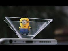 Smartphone Hologram - Make your own 3d hologram projector using CD case & smartphone - YouTube