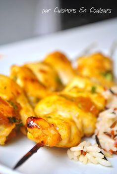 Brochettes de poulet au chutney de mangues pour ramener le soleil à Paris!