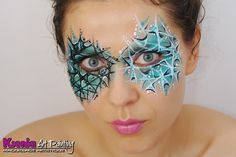 ice queen face paint design - for when the kids ask to be Elsa Adult Face Painting, Painting For Kids, Body Painting, Christmas Face Painting, Dance Makeup, Fantasy Make Up, Make Up Art, Face Painting Designs, Special Effects Makeup