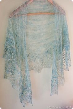 Something I could never do - knit this beautiful shawl, but it's gorgeous.