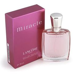 Miracle, by Lancome - an excellent, well-crafted, deeply-feminine fragrance that belies its pinky, girlie appearance.