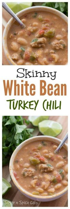 Skinny White Bean Turkey Chili
