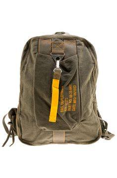 7103cce564c2 Rothco Backpack Canvas Flight Olive Drab Green