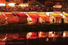 撮影者:平井周作甘木川の花火大会にて・・。