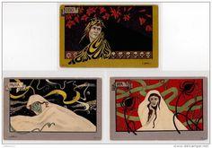 CAMELLI : série complète de 6 cartes postales vers 1900 - bon état (coins légèrement arrondis) - Delcampe.net