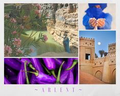 Aesthetic for the town of Arlent, an oasis hidden behind a canyon in desert, and the home of House Arlbond.