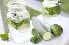 Lime Cucumber Mint Water Recipe | Eating richly even when you're broke