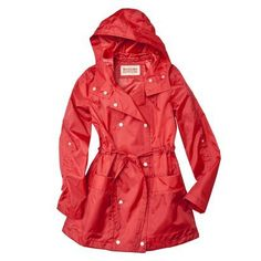 A real raincoat. Because we now live where it actually rains.